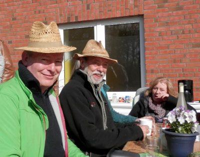 Uwe und Heinz mit Hut