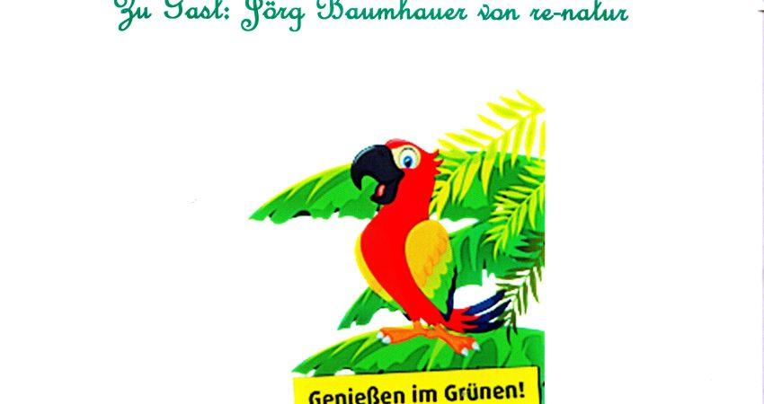 Plakat Grünes Café