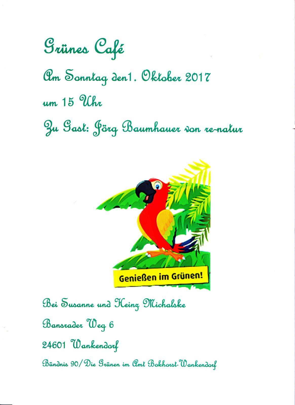 einladung zum grünen café   amt bokhorst-wankendorf, Einladung