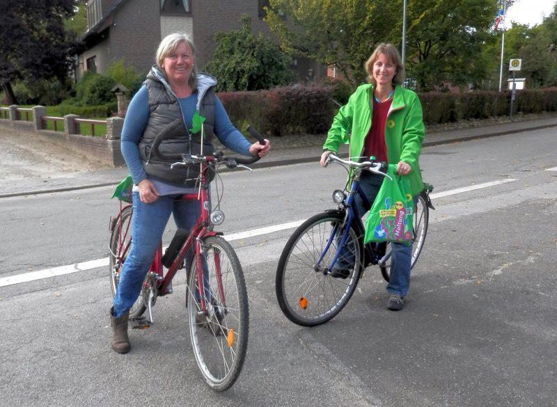 Susanne und Tanja fahren zurück nach Wankendorf