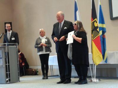 Verleihung durch den Herrn Innenminister