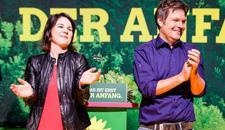 Bild mit Annalena und Robert, Parteivorsitzende