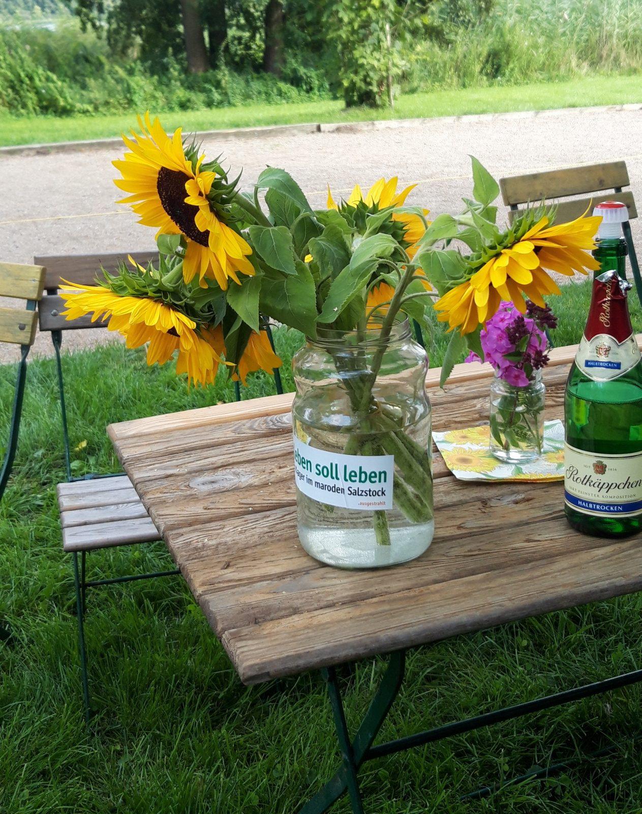 Sonnenschein und Grünes Sommerfest