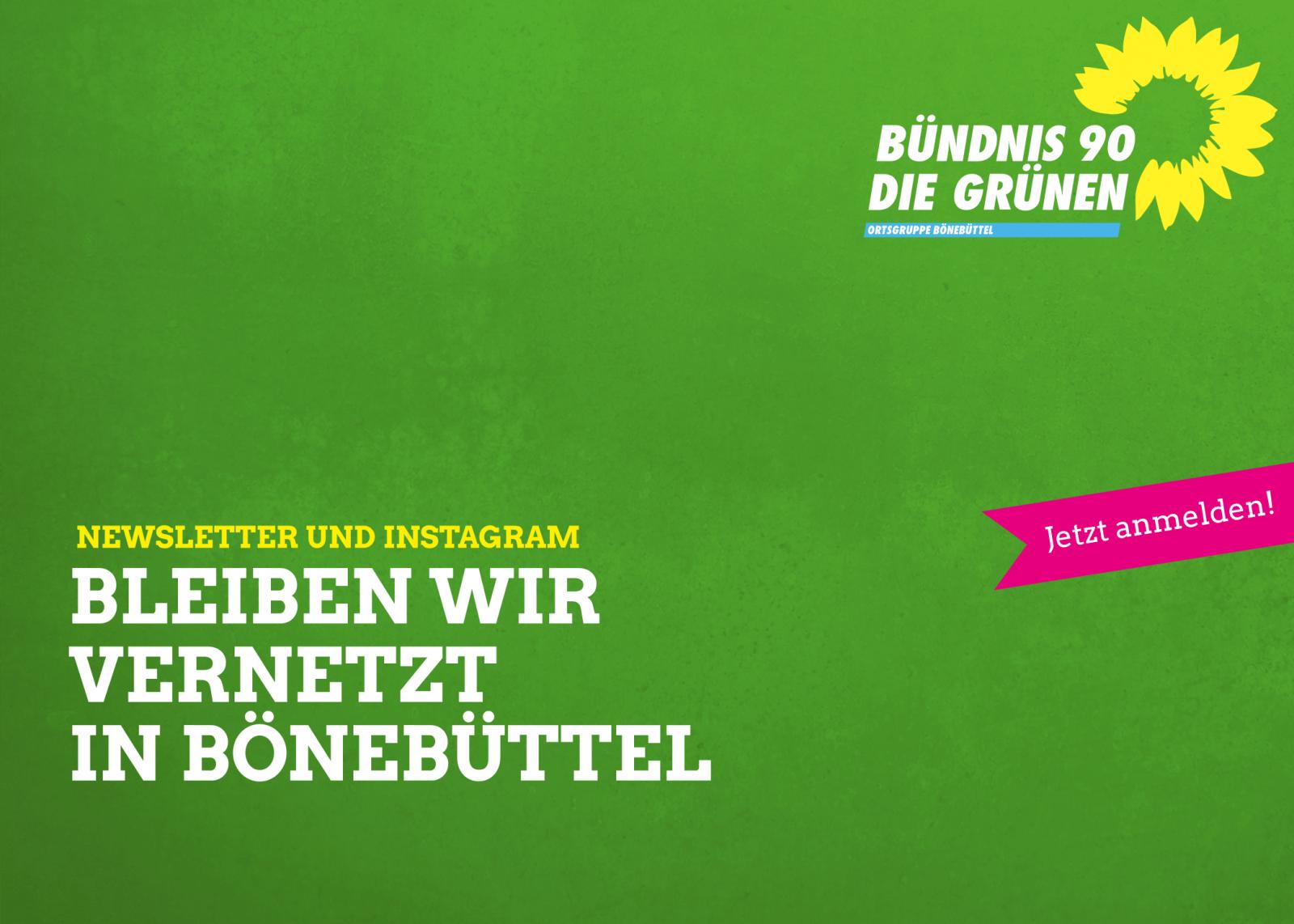 Bleibeb wir vernetzt in Bönebüttel! Newsletter und Instagram